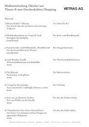 Medienmitteilung Oktober 2011 Thema X-mas ... - vetrag ag