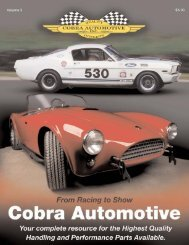 engine! - Cobra Automotive