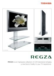 REGZA is an impressive collection of LCD televisions bringing a ...