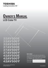 32AV500E 32AV500T 32AV500Y 37AV500E ... - Toshiba REGZA