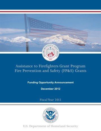 FP&S Funding Announcement - StoveTop FireStop