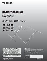 26HLC56 32HLC56 37HLC56 LCD Monitor - Toshiba Canada