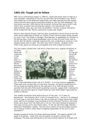 1961-62 and 1962-63 - Hitchin Town Football Club
