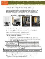 Venturi Table Tob Instruction Manual