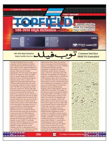 20-21 TOPFIELD TEST REPORT SBI 2010 C - Dish Channels ...