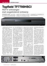 Topfield TF7700HSCI - TELE-satellite International Magazine