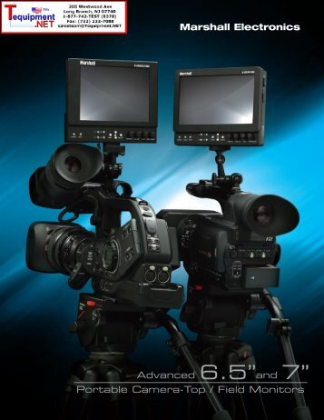 "Advanced 6.5""and 7"" Portable Camera-Top / Field Monitors"