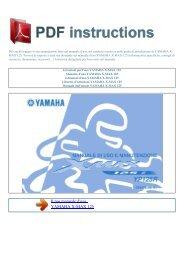 Istruzioni per l'uso YAMAHA X-MAX 125 - ISTRUZIONI PDF