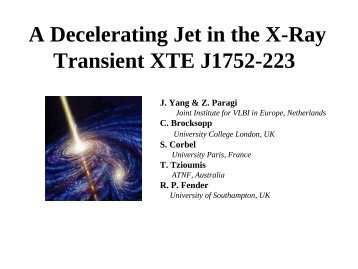 A Decelerating Jet in the X-Ray Transient XTE J1752-223 - CIRA