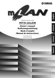 How to install the MY8-mLAN - Yamaha