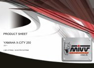 YAMAHA X-CITY 250 PRODUCT SHEET - Mivv