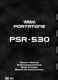 Manual Yamaha PSR 530