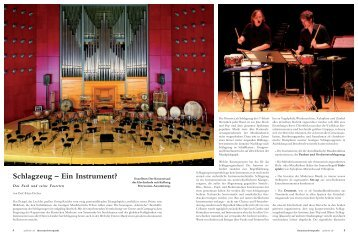 Schlagzeug - Musikhochschule Stuttgart