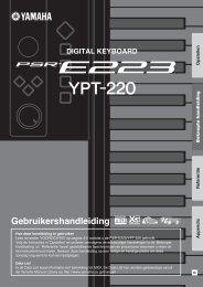 PSR-E223/YPT-220 Owner's Manual - Thomann