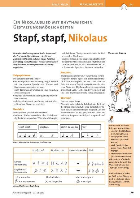 Stapf Stapf Nikolaus Unterrichtsmaterial Grundschule