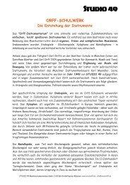Orff-Schulwerk - Die Entstehung der Instrumente - Studio 49