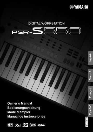 PSR-S550 Manual de instrucciones