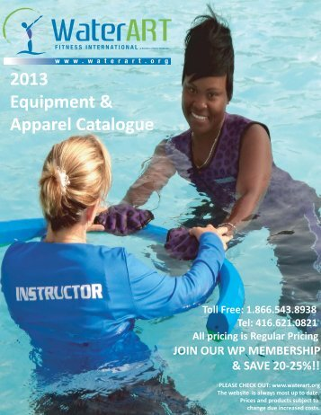 2013 Equipment & Apparel Catalogue - WaterART Fitness