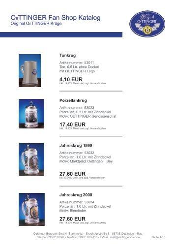 27,60 EUR - OeTTINGER Brauerei GmbH