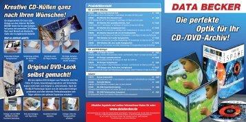 können Sie sich den aktuellen CD/DVD - Etiketten