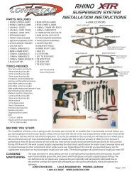 Rhino Gusset Kit Instructions 1 ai - Lonestar Racing