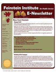 Feinstein Institute for Public Service E-Newsletter - Providence ...