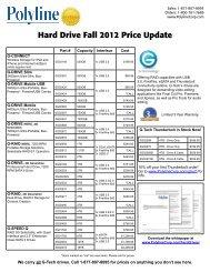Hard Drive Fall 2012 Price Update - Polyline