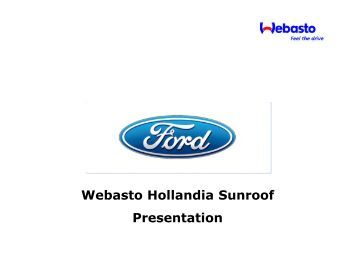 Webasto Hollandia 700 Service Manual on