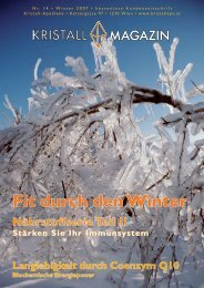 Fit durch den Winter - Kristall-Apotheke