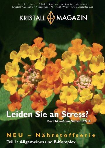 Leiden Sie an Stress? - Kristall-Apotheke