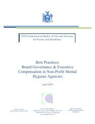 cqc best practices report - Commission on Quality of Care and ...