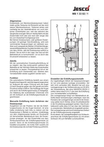 Dosierköpfe mit automatischer Entlüftung - Lutz-Jesco GmbH
