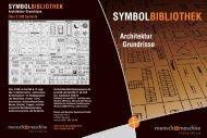 SYMBOLBIBLIOTHEK Architektur Grundrisse - Mensch und Maschine