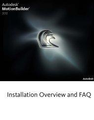 MotionBuilder 2012 Installation Overview and FAQ ... - Autodesk
