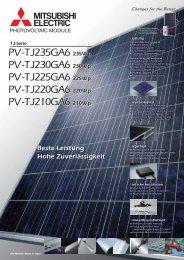 Beste Leistung Hohe Zuverlässigkeit PV ... - Mitsubishi Electric