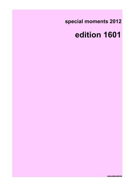 special moments 2012 edition 1601 - Agentur-exclusiv