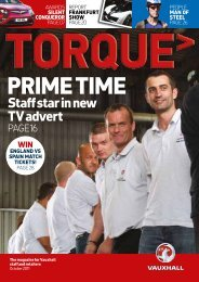 TORQUE magazine October 2011 - the GM Pensions website