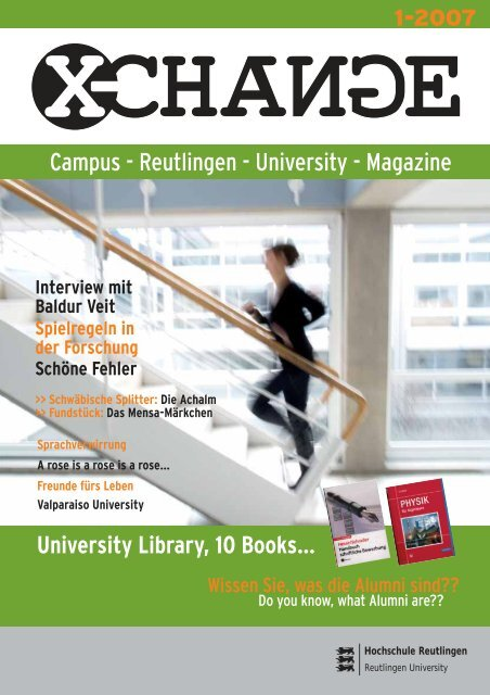Campus - Reutlingen - University - Magazine - Hochschule ...