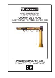 COLUMN JIB CRANE - INSTRUCTIONS FOR USE -