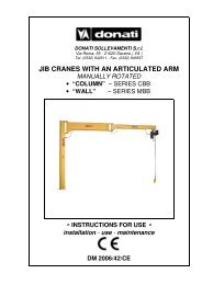 JIB CRANES WITH AN ARTICULATED ARM MANUALLY ROTATED