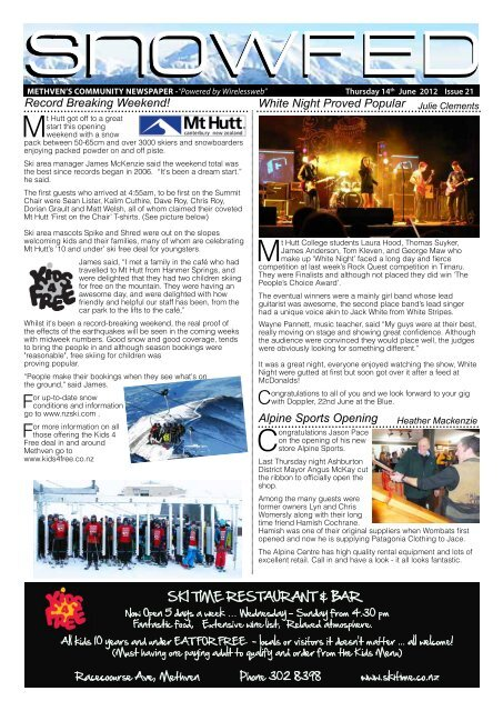 """METHVEN'S COMMUNITY NEWSPAPER -""""Powered by ... - Wep.co.nz"""