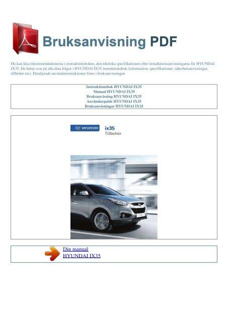 Manual Hyundai Ix35 Espaol