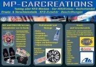 NEU und EXKLUSIV bei uns: Autozubehör von Ed ... - mp-carcreations