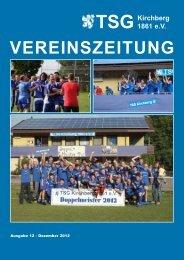 Vereinszeitung 2012 - TSG Kirchberg/Jagst
