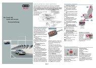 Ihr Audi A6, Audi A6 Avant Kurzanleitung