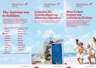 Austrian myHoliday Folder