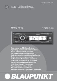 Radio CD MP3 WMA Madrid MP48 - Blaupunkt