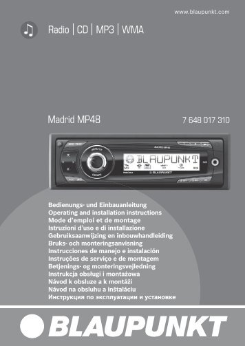 Radio CD MP3 WMA Madrid MP48 - Blaupunkt