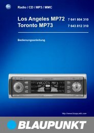 Los Angeles MP72 7 641 804 310 Toronto MP73 - Blaupunkt