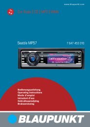 Seattle MP57 Car Radio CD MP3 WMA - Blaupunkt